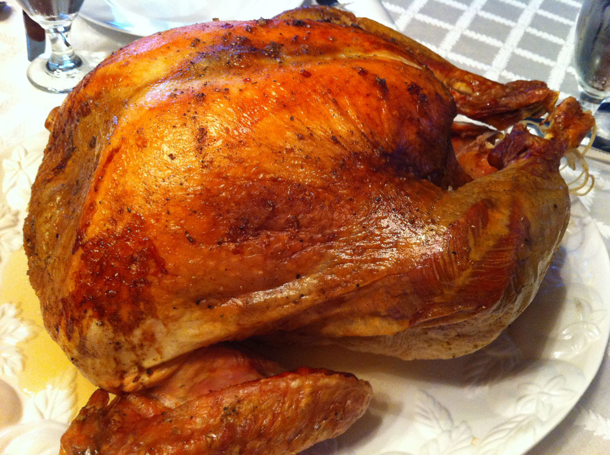 Cooked Thanksgiving Turkey  I m a fan of convection ovens