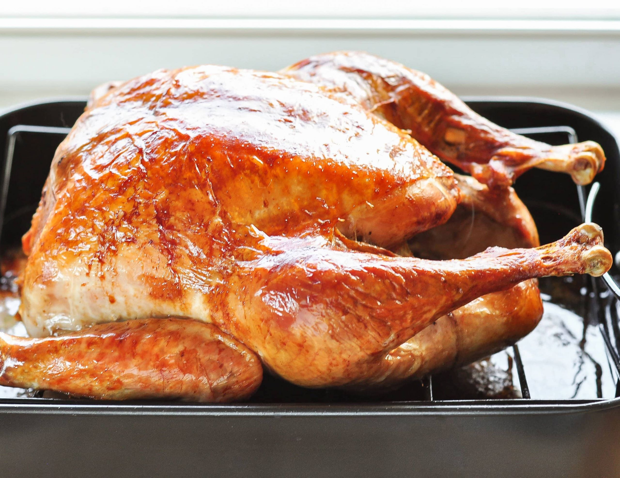 Cooked Thanksgiving Turkey  How To Cook a Turkey The Simplest Easiest Method