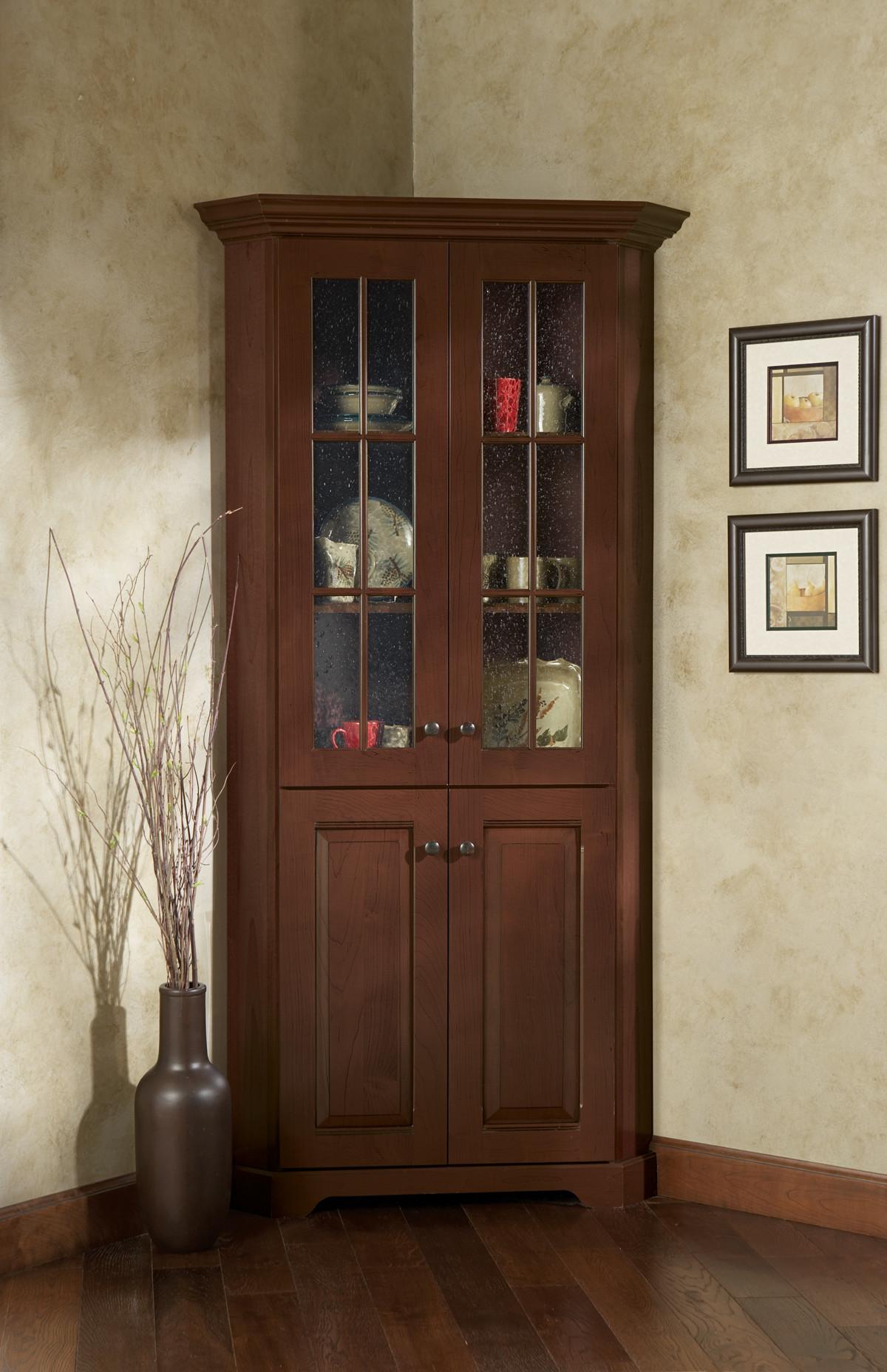 Corner Cabinet Bedroom  Corner Cabinet With Glass Doors – HomesFeed