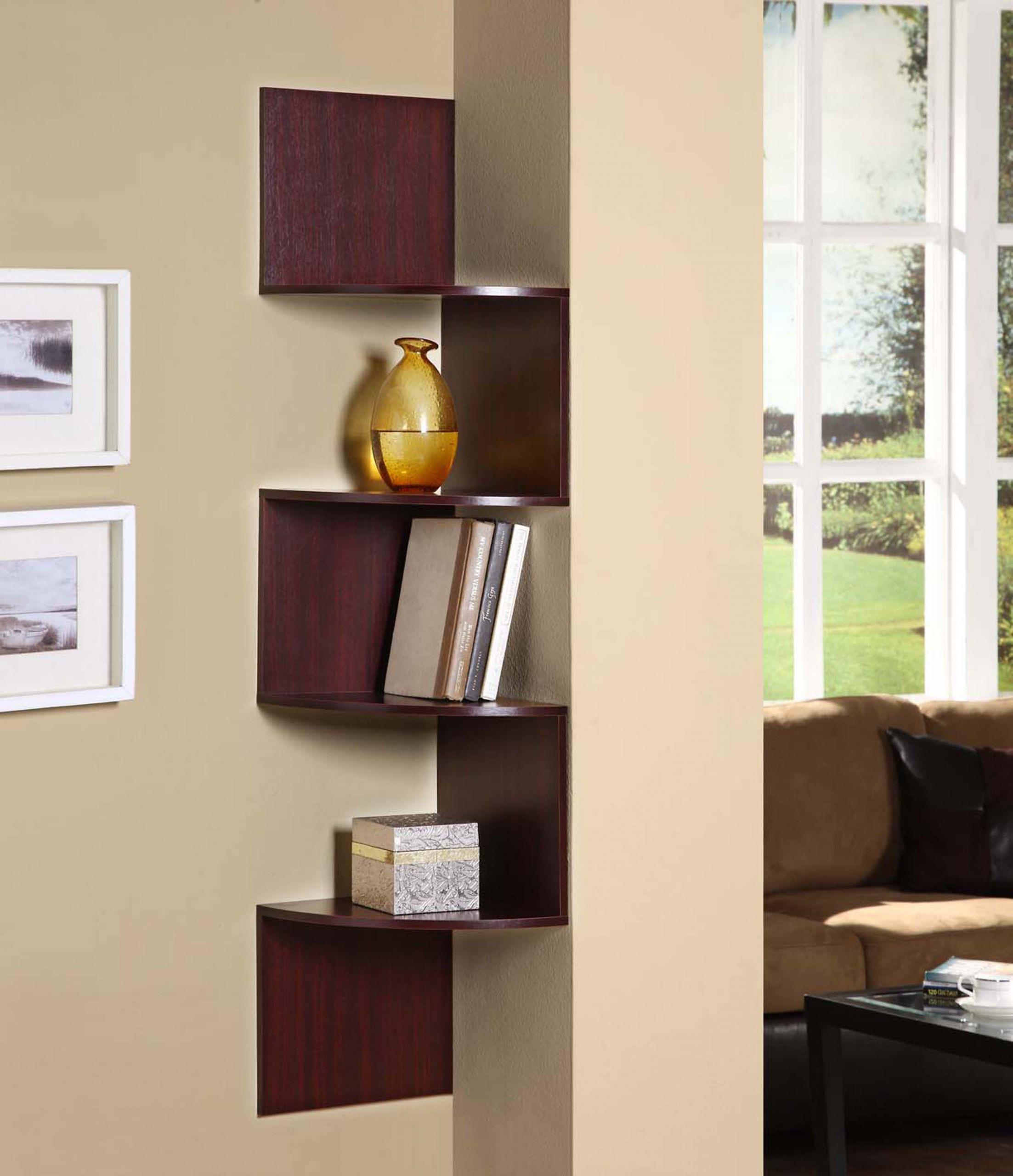 Corner Cabinet Bedroom  Hanging Corner Storage Cherry