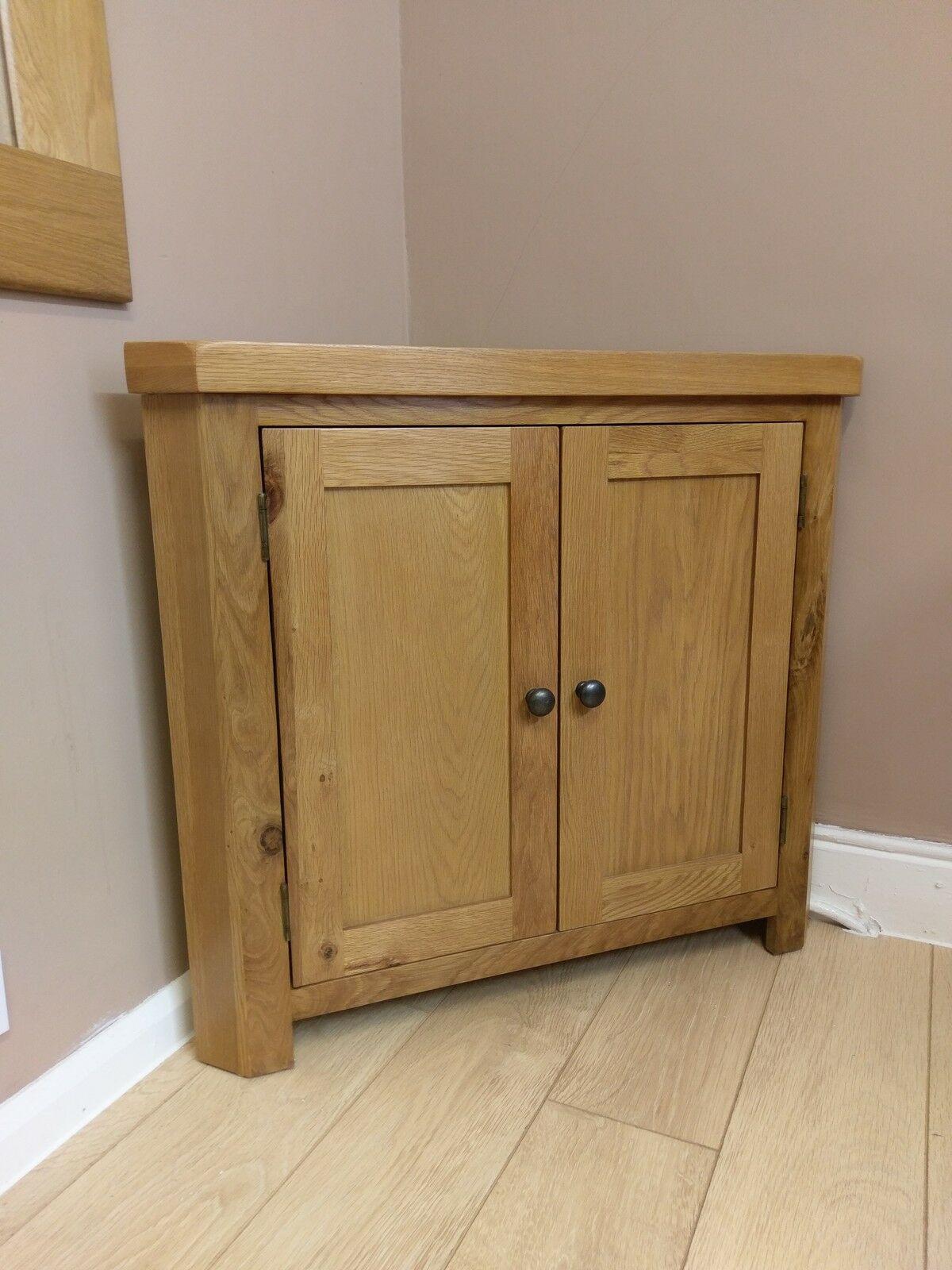 Corner Cabinet Bedroom  Kingsford Solid Oak Corner Cabinet Cupboard 90cm 51 2cm