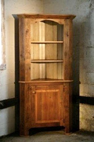 Corner Cabinet Bedroom  Corner Cabinet With Open Top Rustic boston by