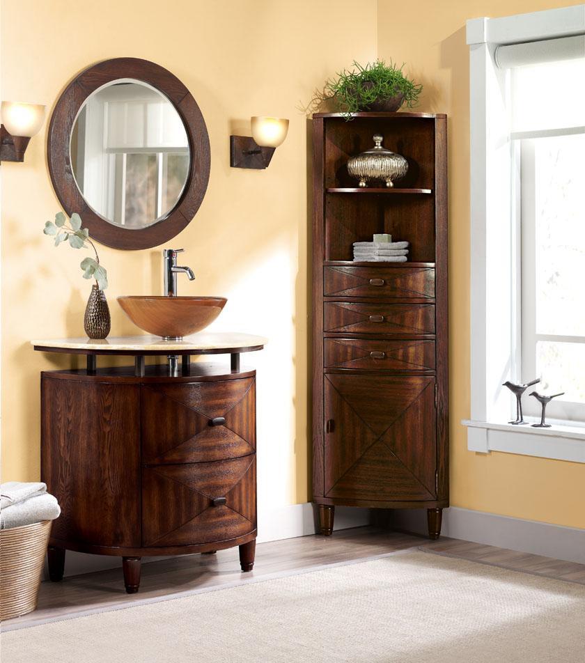 Corner Cabinet Bedroom  Corner Linen Cabinet for Space Saving Bathroom Idea