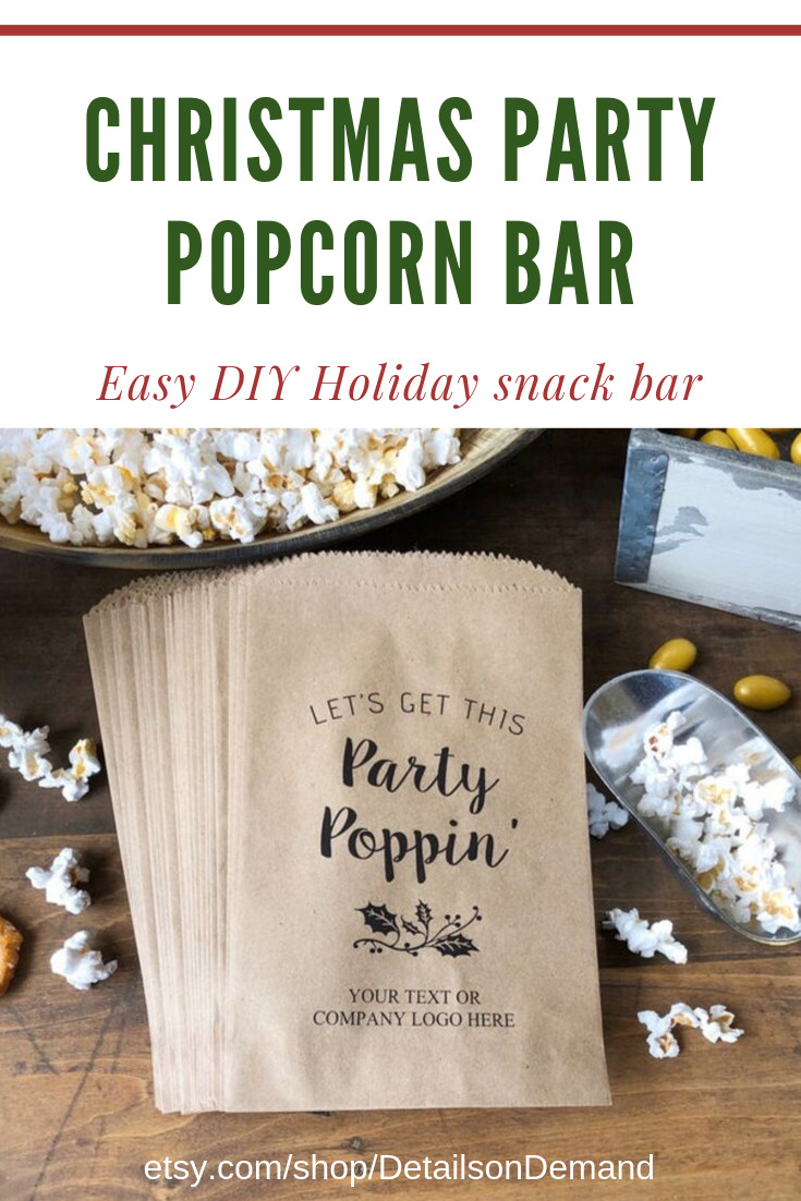 Corporate Holiday Party Gift Ideas  Popcorn Buffet pany Holiday Party Christmas Treat