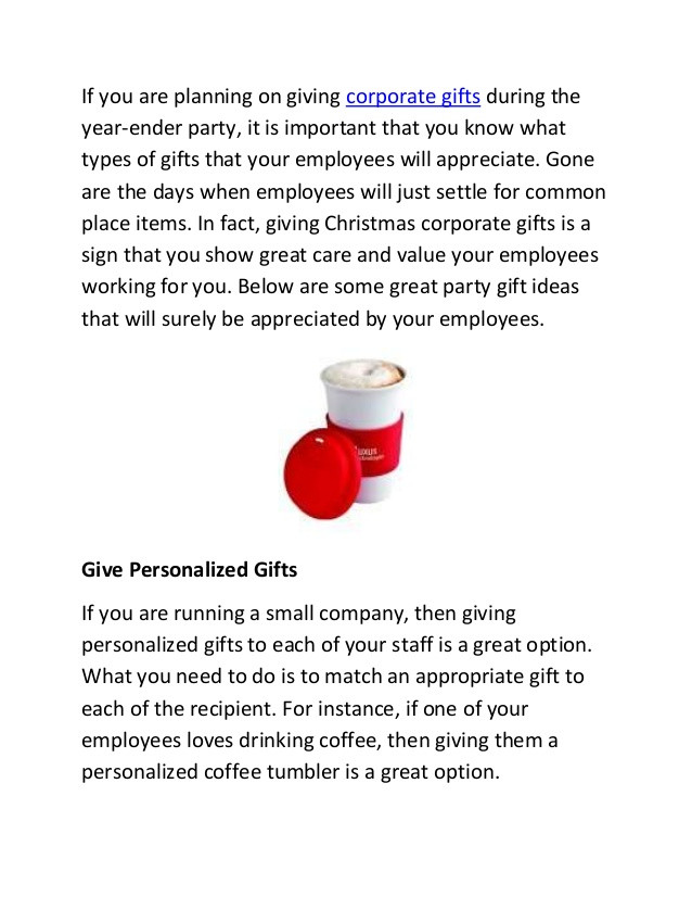 Corporate Holiday Party Gift Ideas  Types of corporate t ideas you can give during