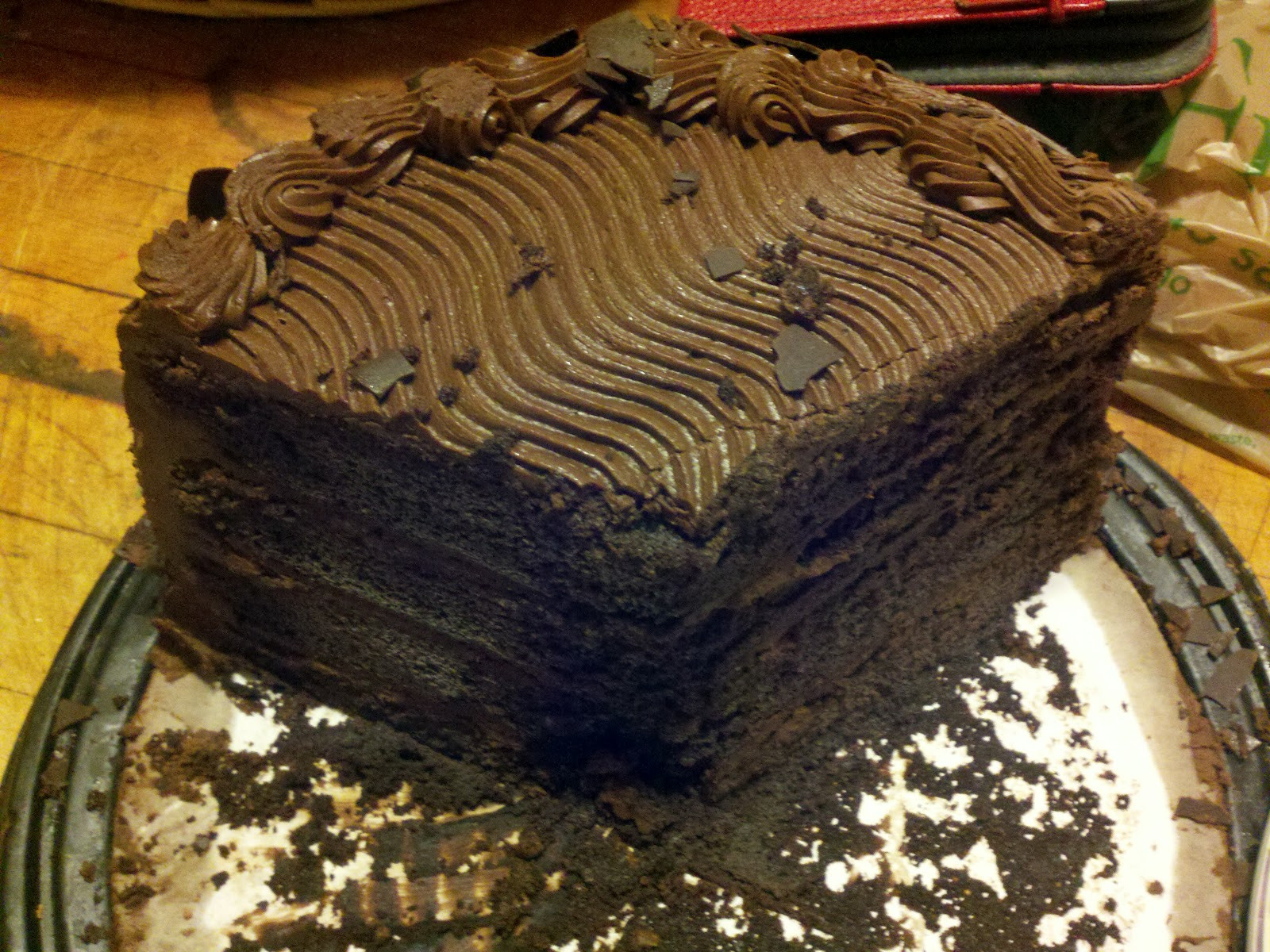 Costco Chocolate Cake  Mrs Quartermaster August 2012