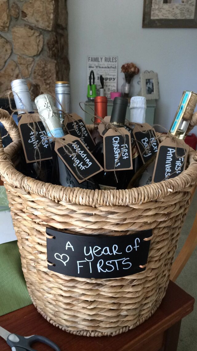 Couples Gift Ideas Pinterest  95 best images about Diy wedding wine basket ideas on