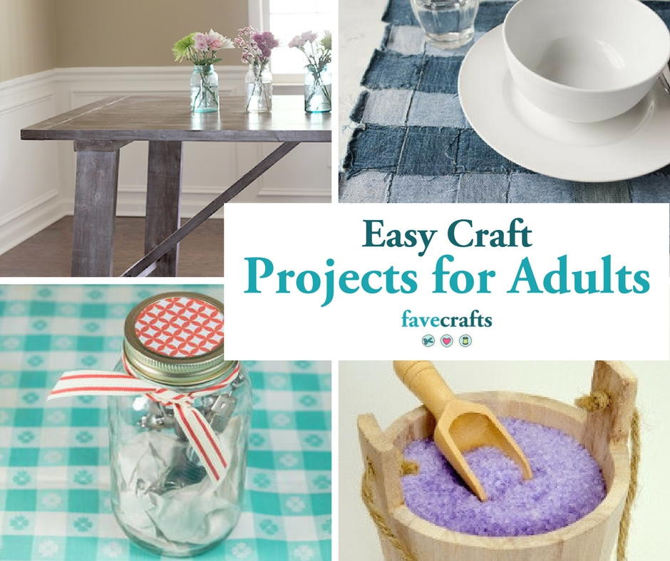 Craft Activities For Adults  44 Easy Craft Projects For Adults