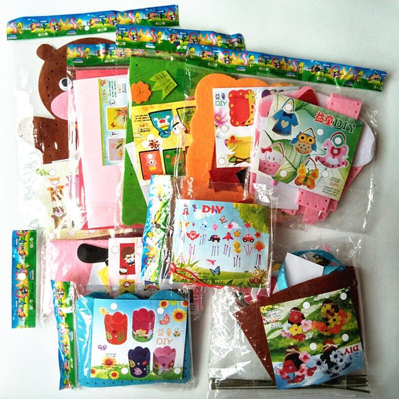 Craft Kit For Kids  Happyxuan 9 Designs Kids DIY Craft Kits Felt Handicraft