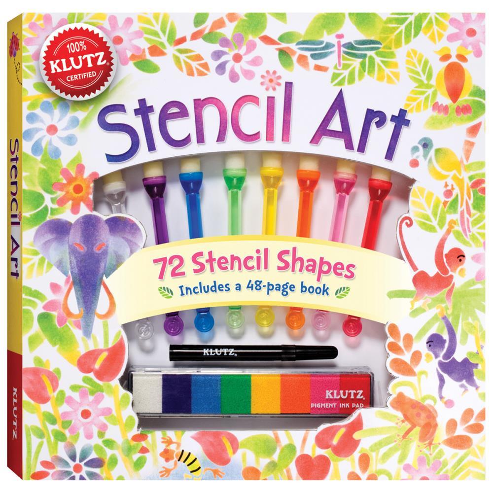 Craft Kit For Kids  Stencil Art Kit for Kids Easy & Fun Klutz Craft Kits