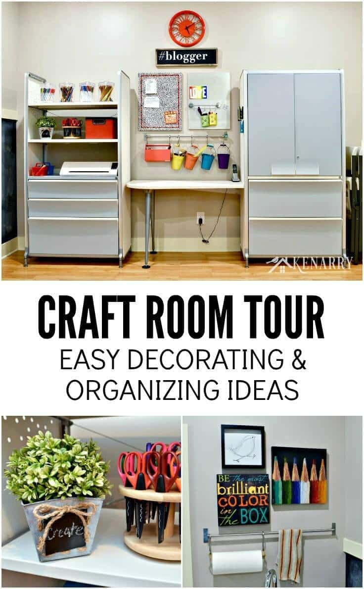 Craft Room Organizing Ideas  Craft Room Tour Decorating and Organizing Ideas