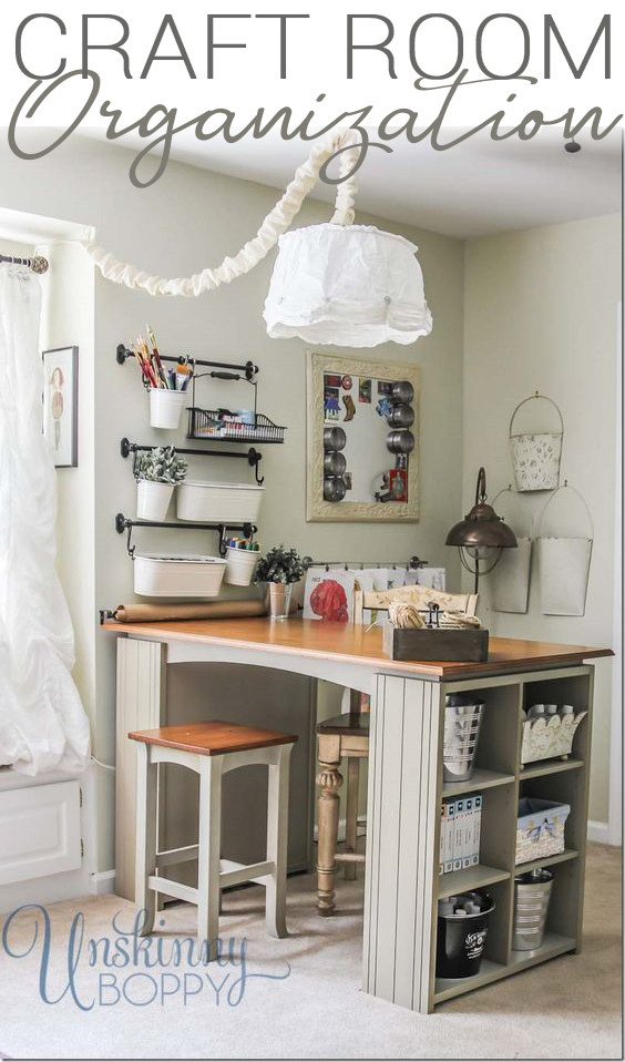 Craft Room Organizing Ideas  Updating and Organizing the Craft Room Unskinny Boppy