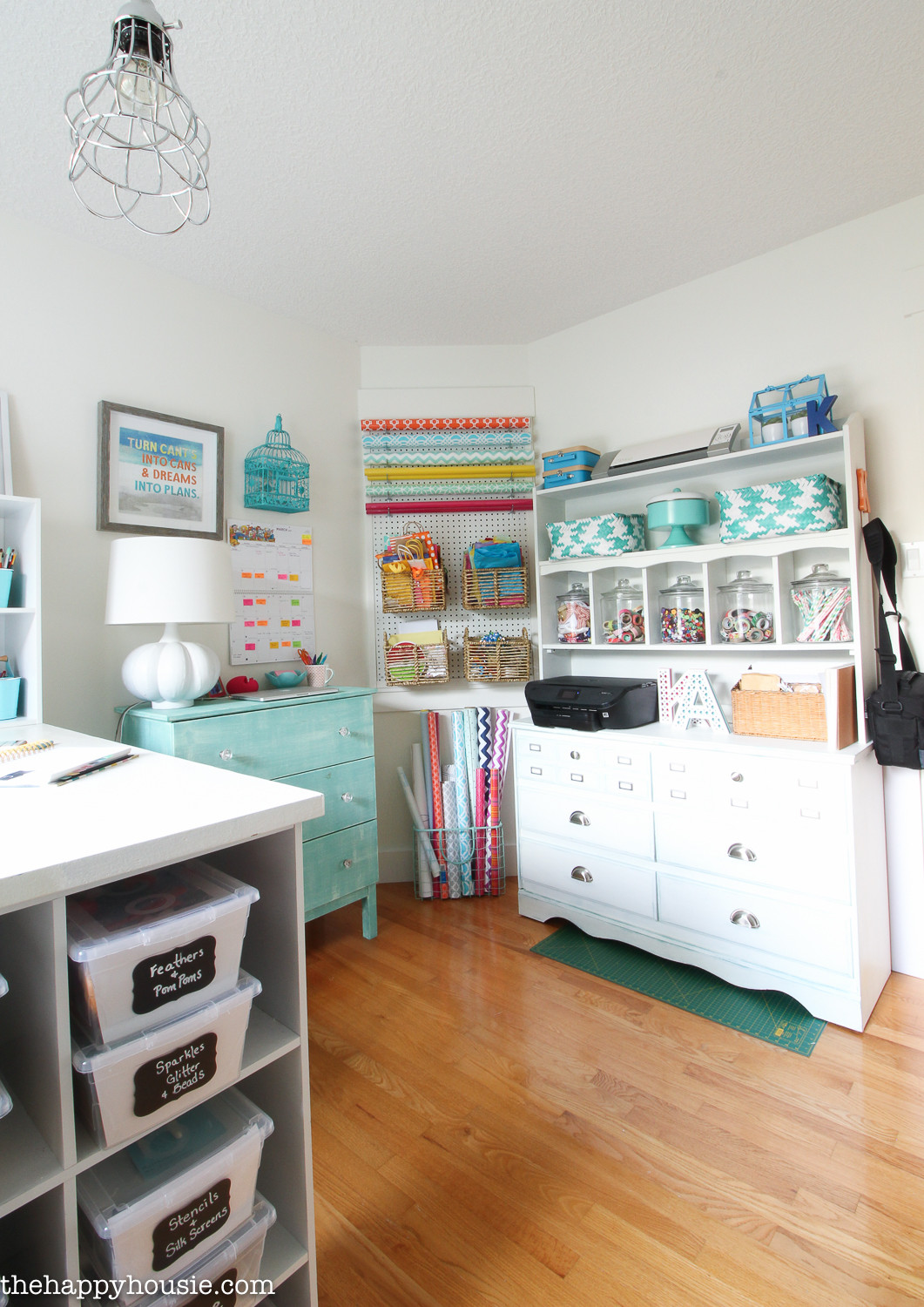 Craft Room Organizing Ideas  How to Organize a Craft Room Work Space The Happy Housie