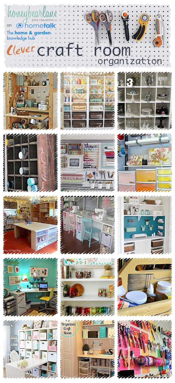 Craft Room Organizing Ideas  25 Ideas for Craft Room Organization Honeybear Lane