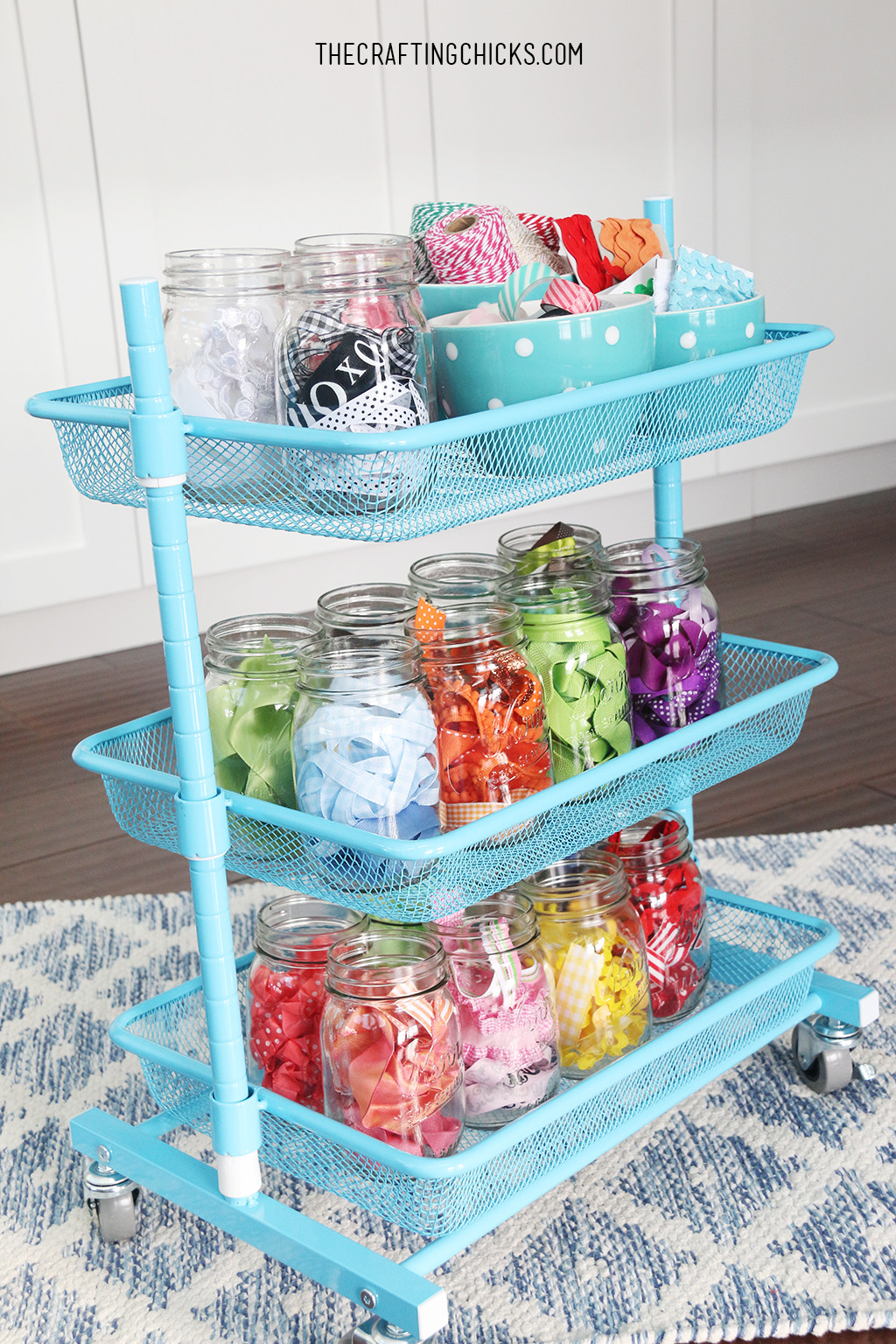 Craft Room Organizing Ideas  Creative Thrifty & Small Space Craft Room Organization