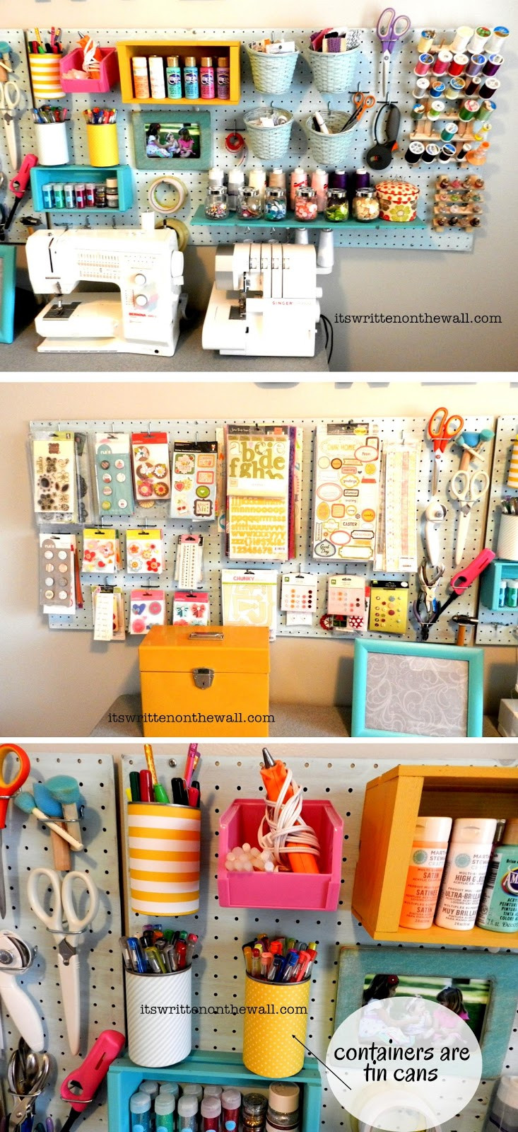 Craft Room Organizing Ideas  Craft Room Organizing Ideas How to Use That Blank Wall to