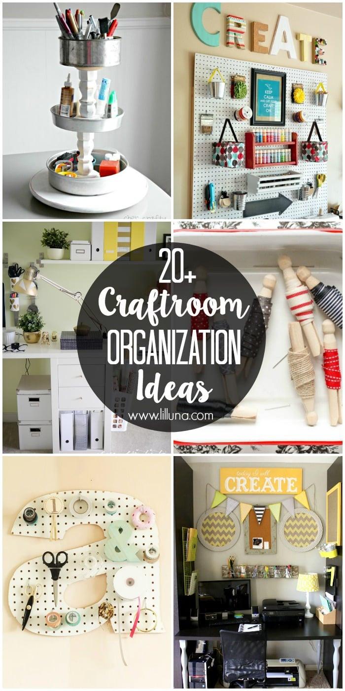 Craft Room Organizing Ideas  Craft Room Organization Ideas