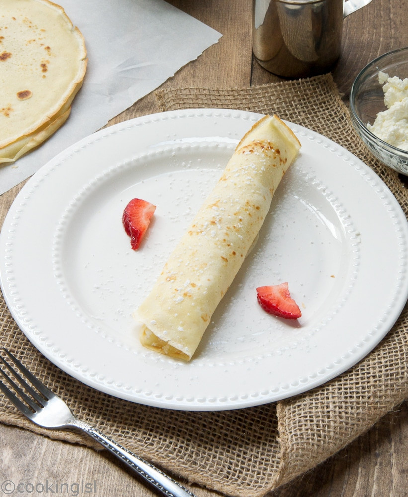 Cream Cheese Crepes  Cream and Cottage Cheese Filled Crepes