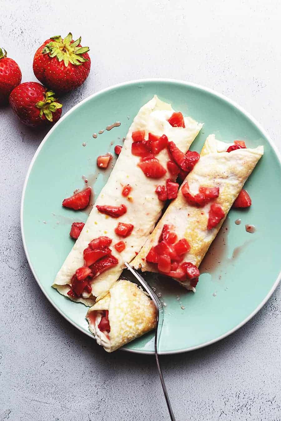 Cream Cheese Crepes  Strawberry Cream Cheese Crepe Filling • Low Carb with Jennifer