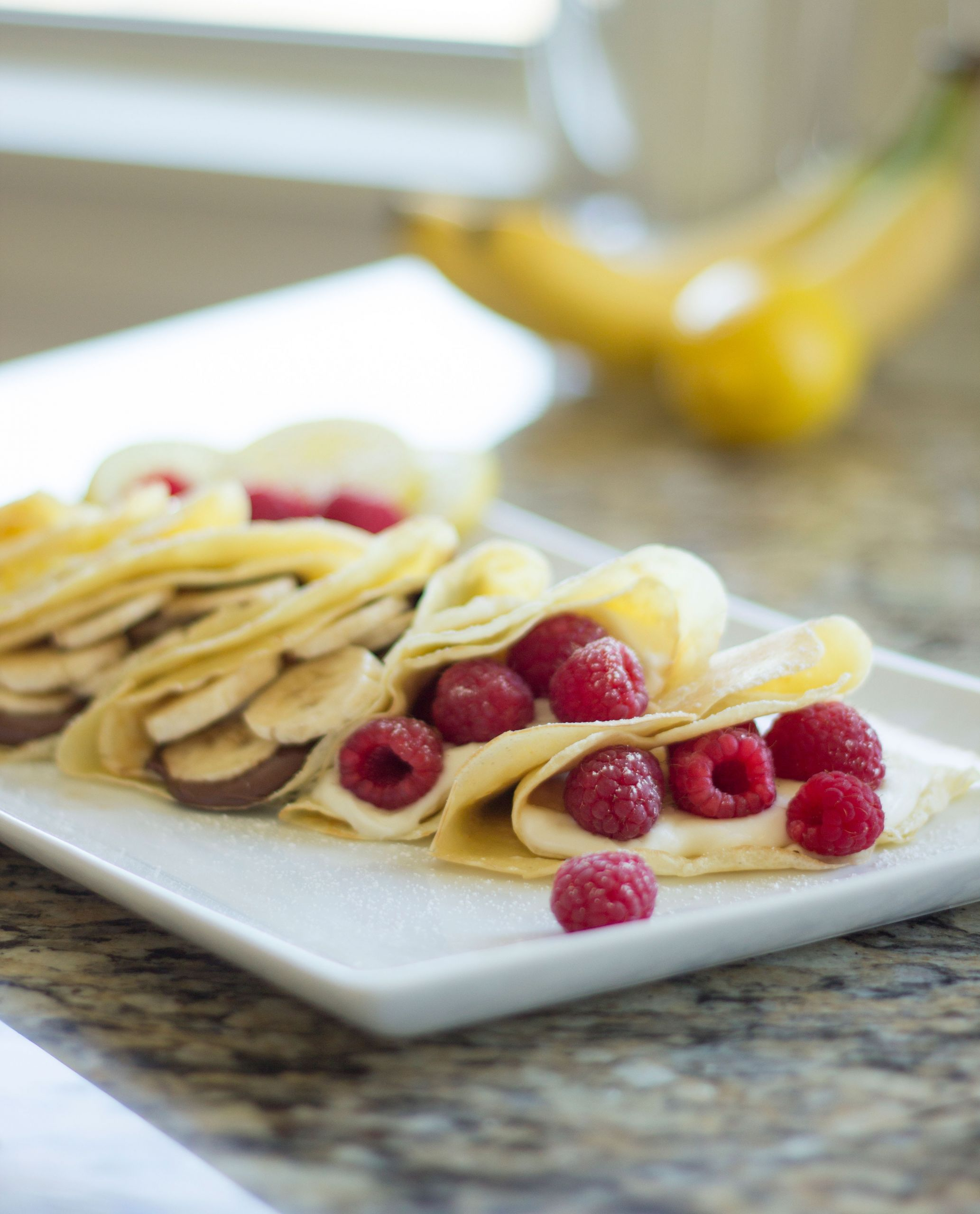 Cream Cheese Crepes  Raspberry Cream Cheese Crepes – Two