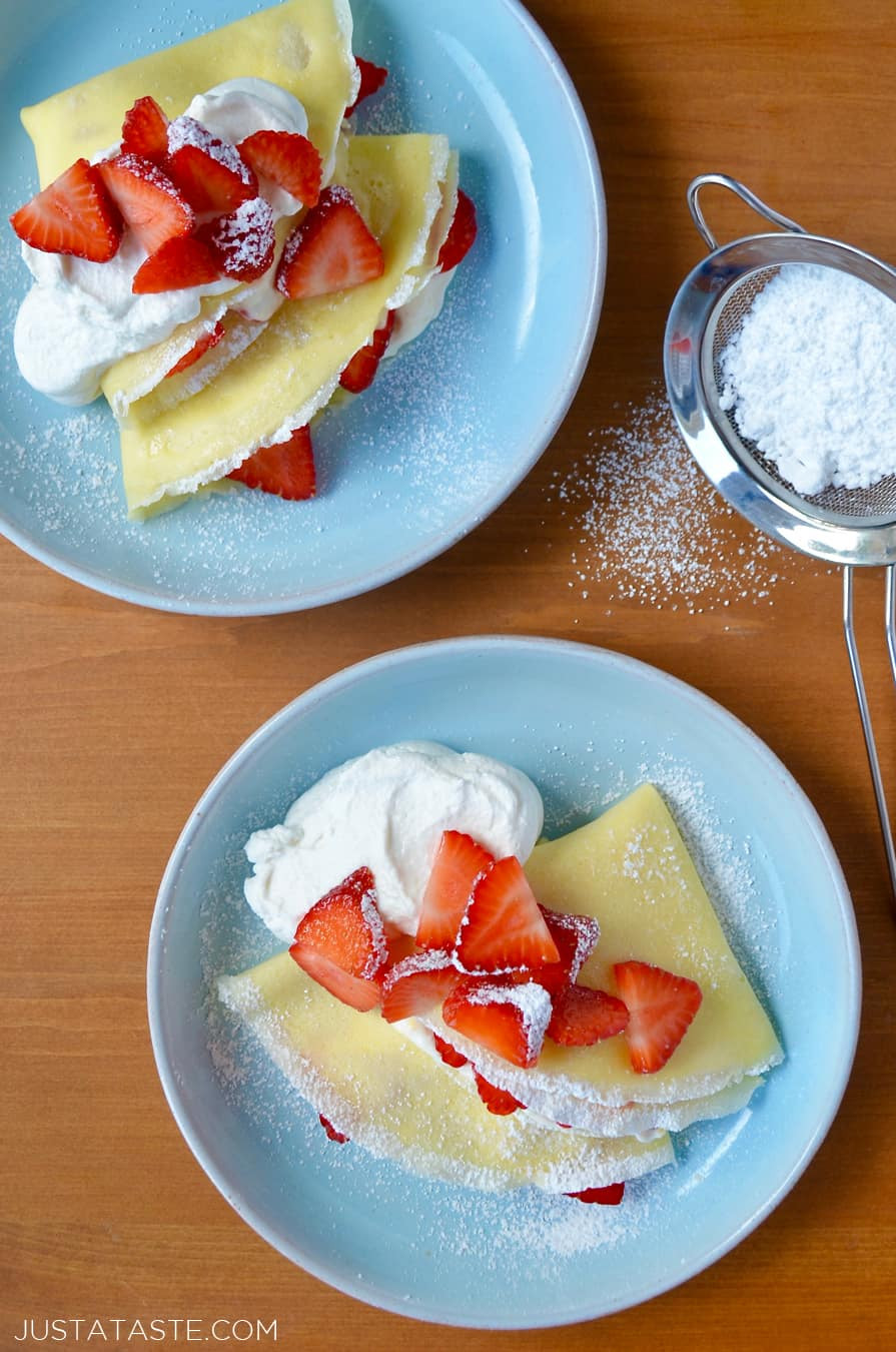 Cream Cheese Crepes  Strawberry Cream Cheese Crêpes