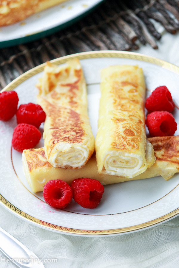 Cream Cheese Crepes  Sautéed Cream Cheese Crepes Her Cup of Joy