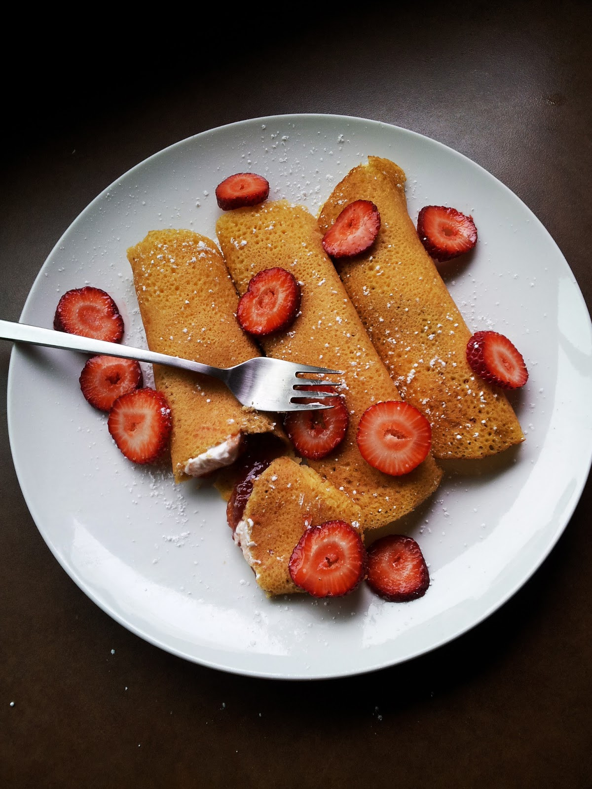 Cream Cheese Crepes  A Profound Hatred of Meat Strawberry Cream Cheese Crepes