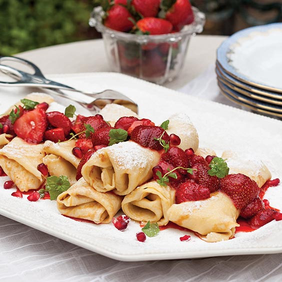 Cream Cheese Crepes  Creole Cream Cheese Crêpes with Strawberry pote