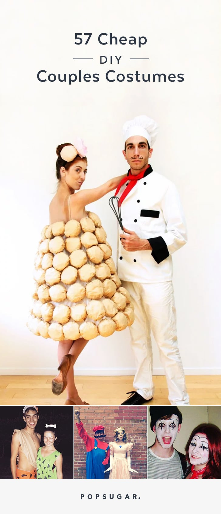 Creative DIY Halloween Costumes For Adults  Pin it Cheap DIY Couples Halloween Costumes