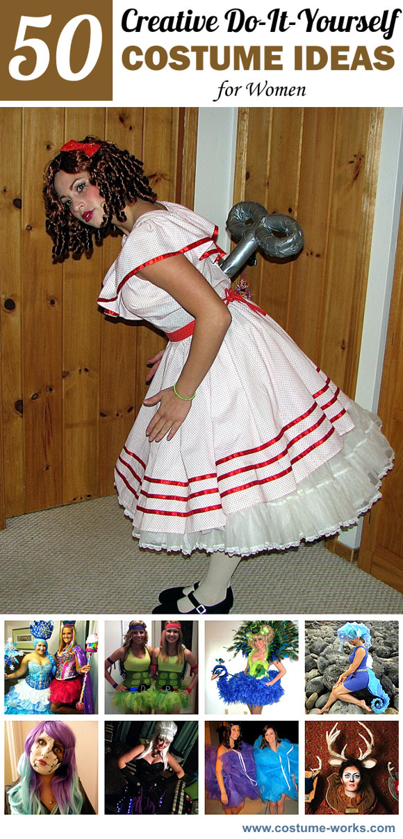 Creative DIY Halloween Costumes For Adults  50 Creative DIY Halloween Costume Ideas for Women