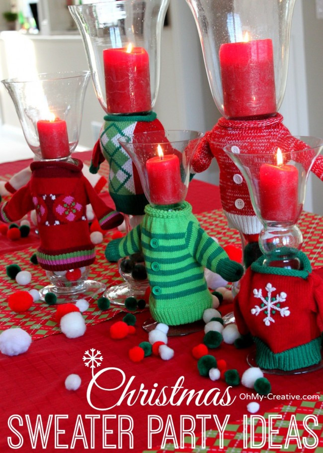 Creative Holiday Party Ideas  Ugly Christmas Sweater Party Ideas Oh My Creative