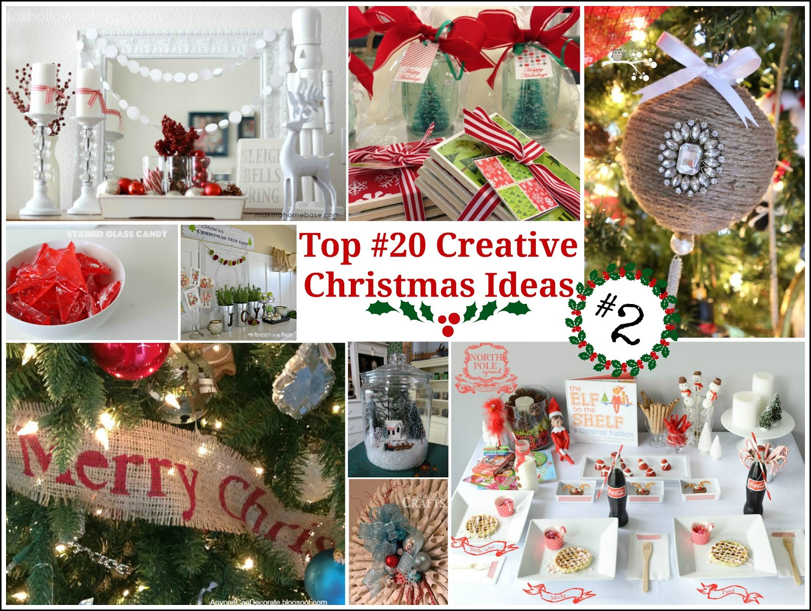 Creative Holiday Party Ideas  Top 20 Creative Christmas Ideas II Fox Hollow Cottage