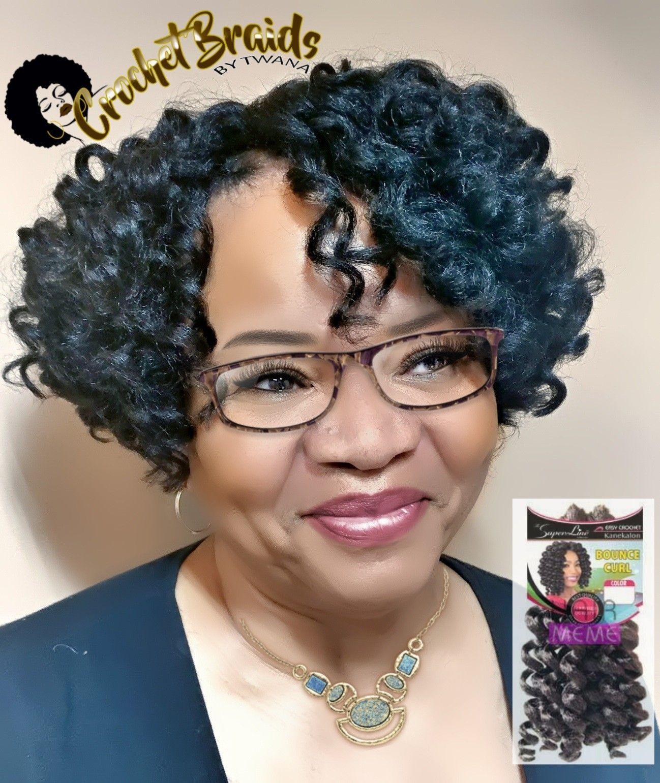 Crochet Braids Bob Hairstyle  Bob cut Crochet Braids featuring Superline Bounce Curl 3