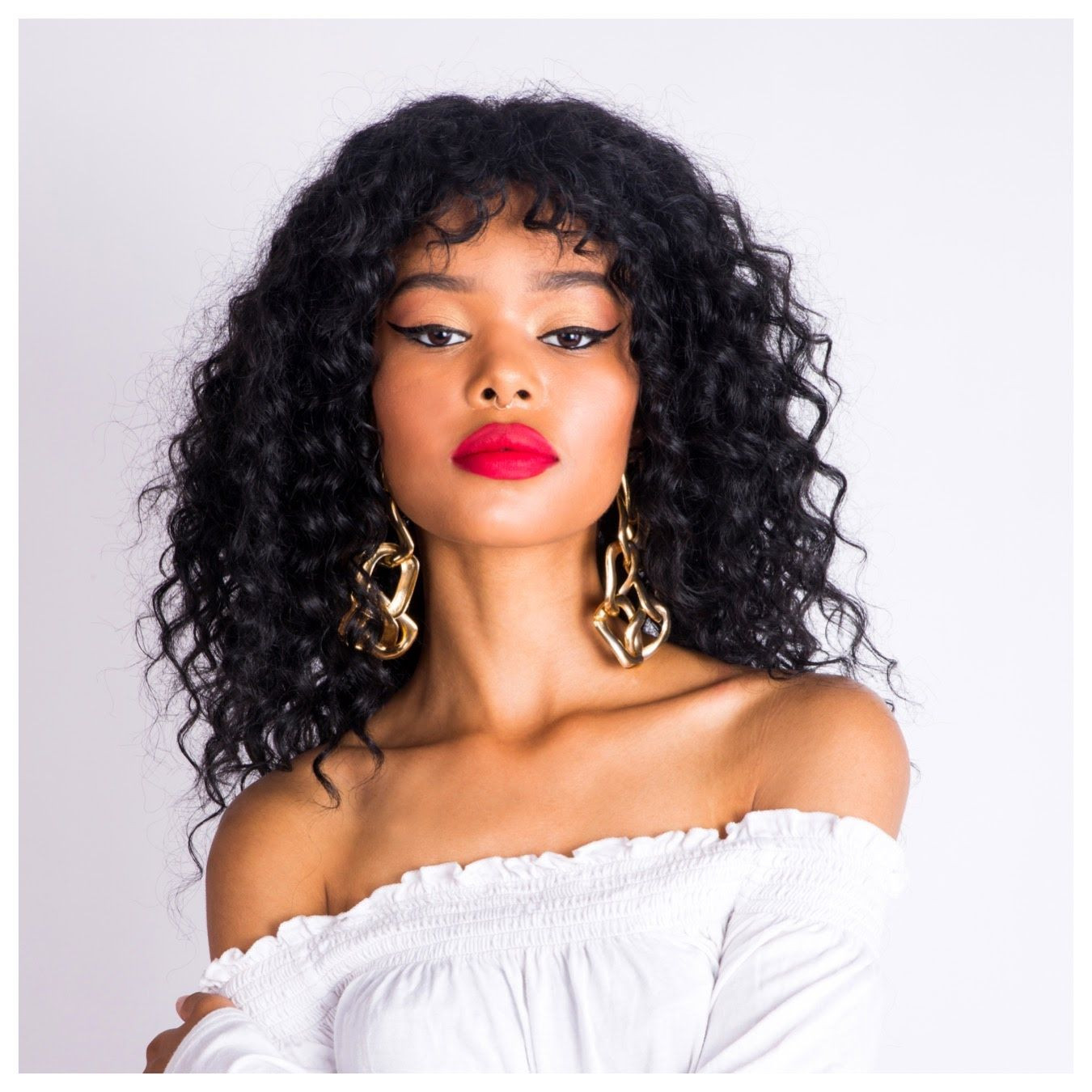 Crochet Hairstyles With Bangs  How to install loose curly crochet braids with a fringe