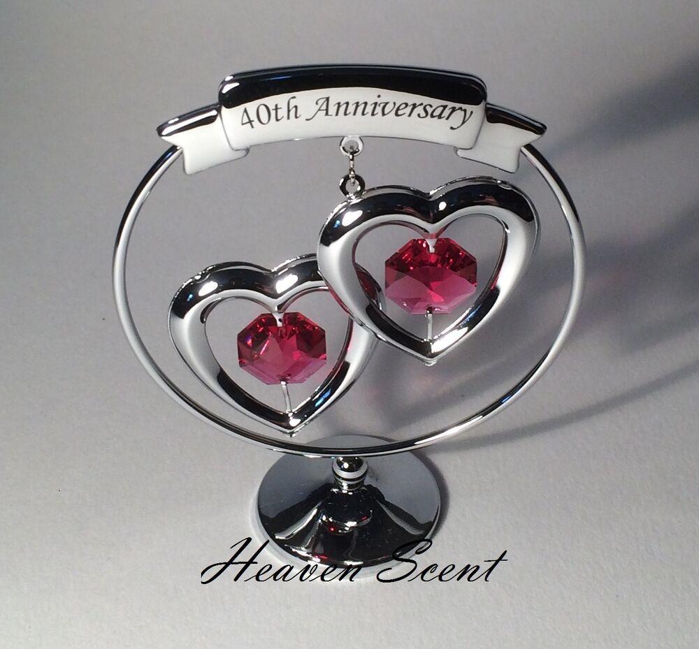 Crystal Anniversary Gift Ideas  40th Ruby Wedding Anniversary Gift Ideas with Swarovski