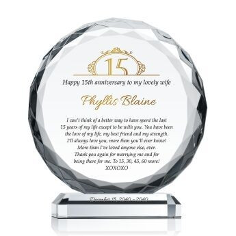 Crystal Anniversary Gift Ideas  Crystal Anniversary Gift for Spouse 162 3