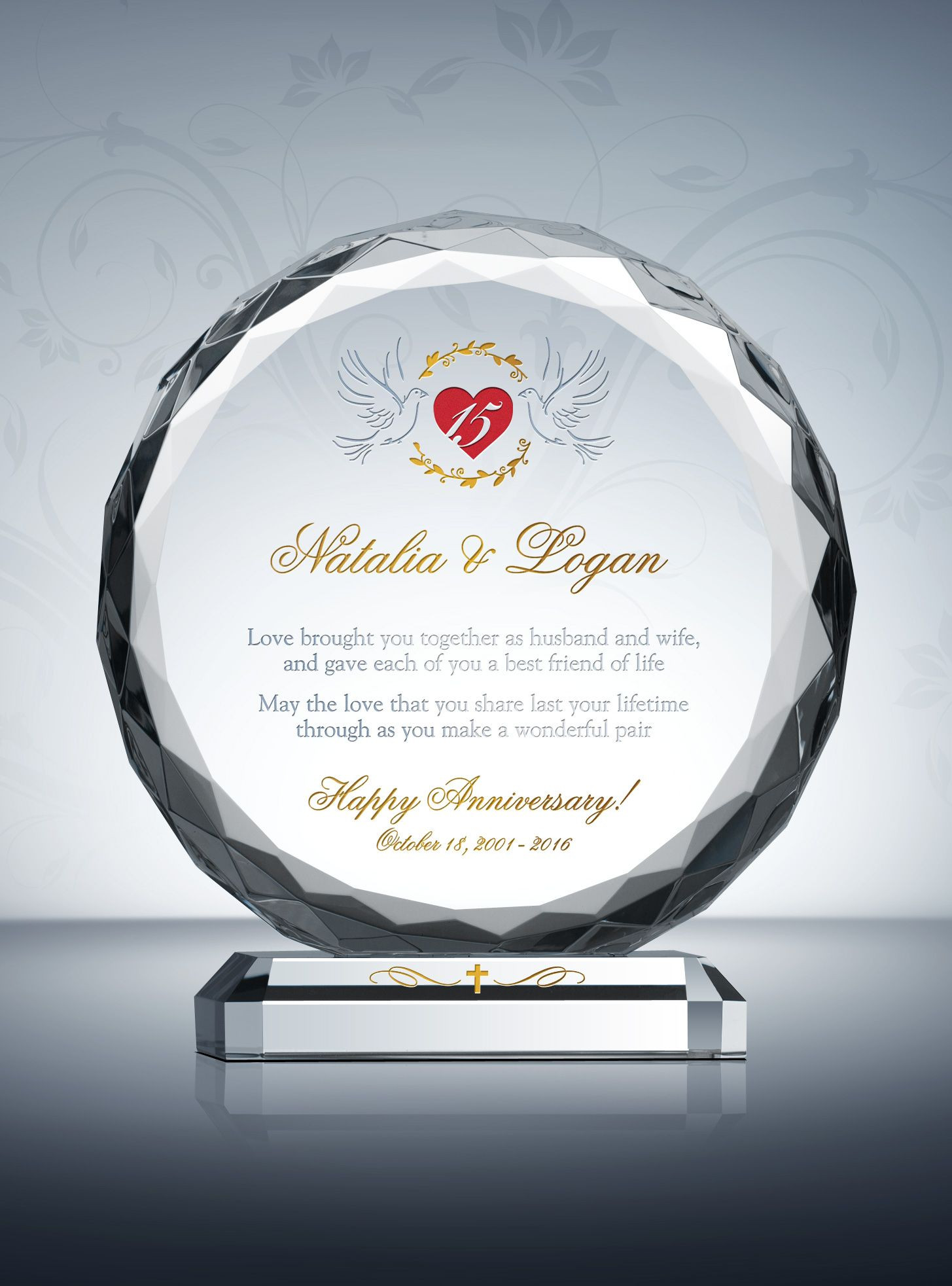 Crystal Anniversary Gift Ideas  15th Crystal Wedding Anniversary Gifts
