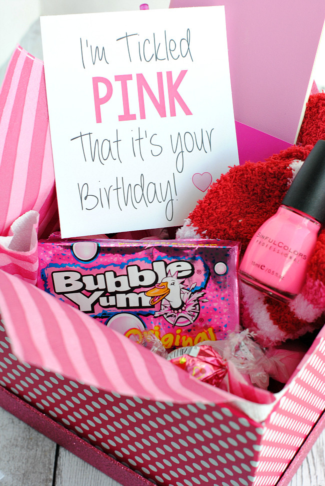 Cute Birthday Gift Ideas For Best Friend  Tickled Pink Gift Idea – Fun Squared