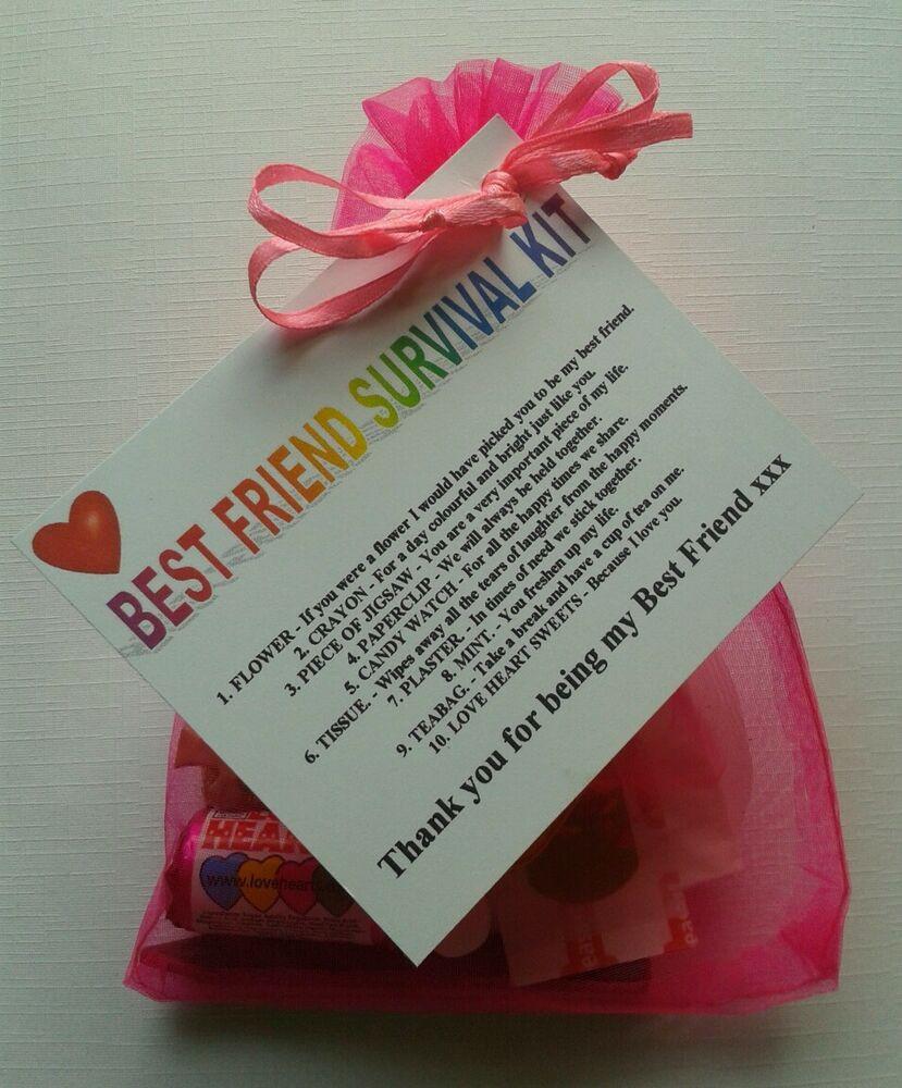 Cute Birthday Gift Ideas For Best Friend  BEST FRIEND Survival Kit Birthday Keepsake Gift Present