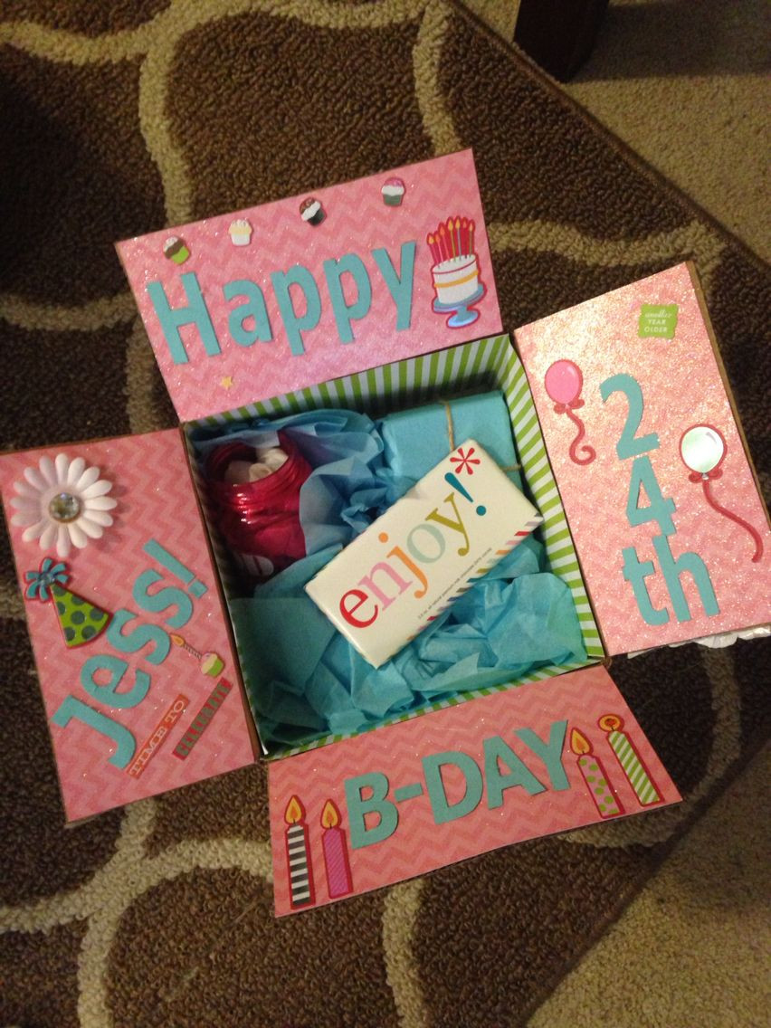 Cute Birthday Gift Ideas For Best Friend  Best friend birthday box Decorate the inside of the box