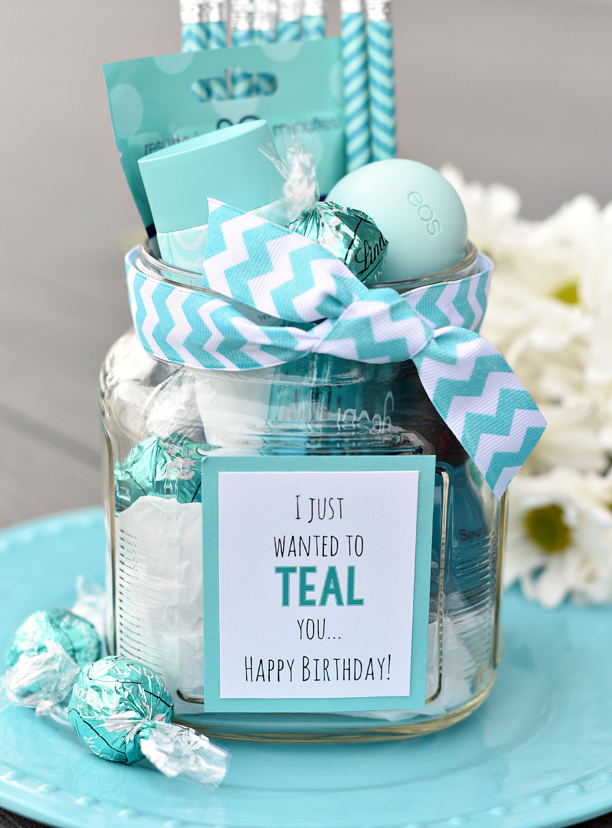 Cute Birthday Gift Ideas For Best Friend  Teal Birthday Gift Idea for Friends – Fun Squared