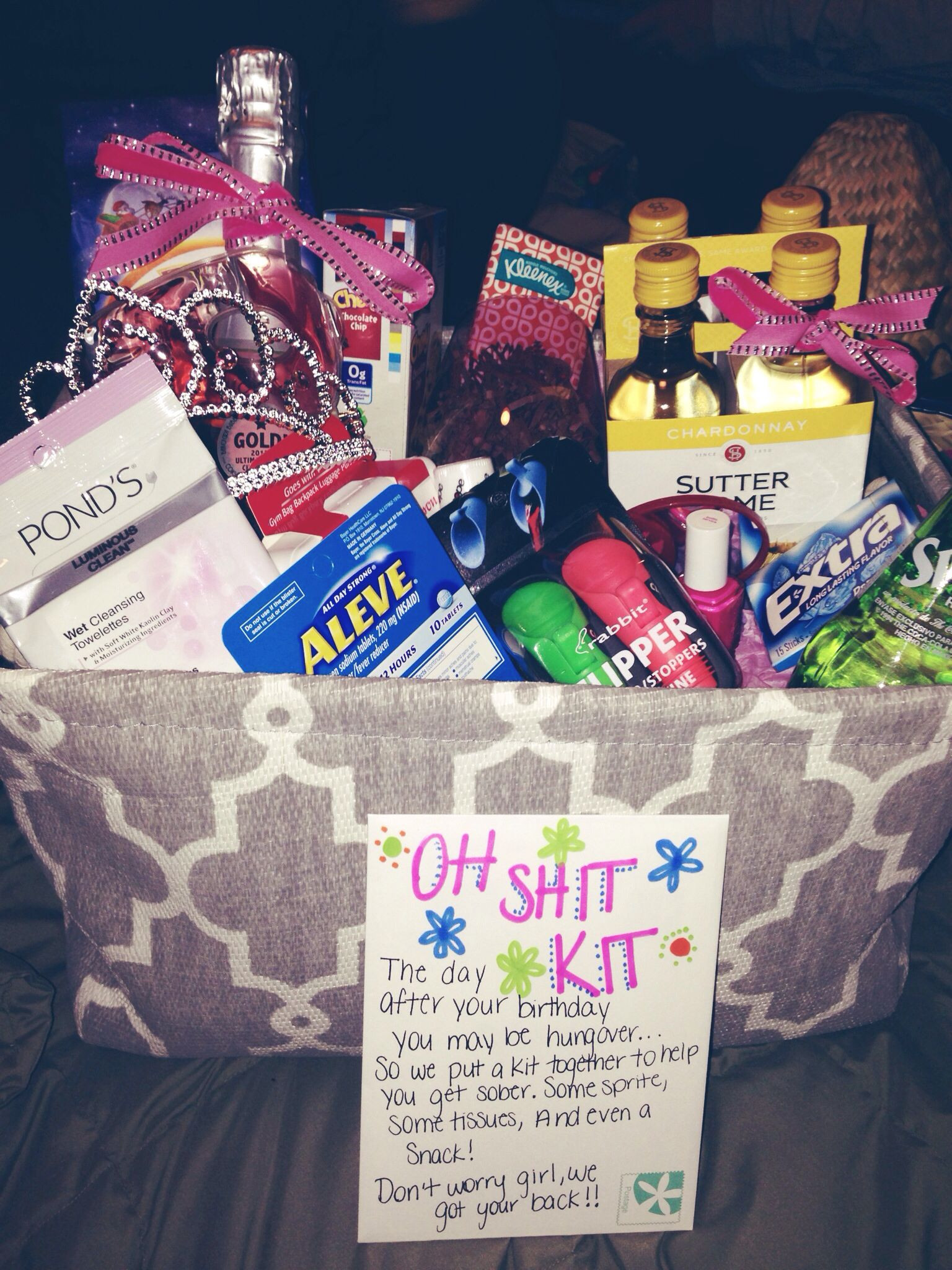 Cute Birthday Gift Ideas For Best Friend  what I made for my best friends 21st birthday 21 diy