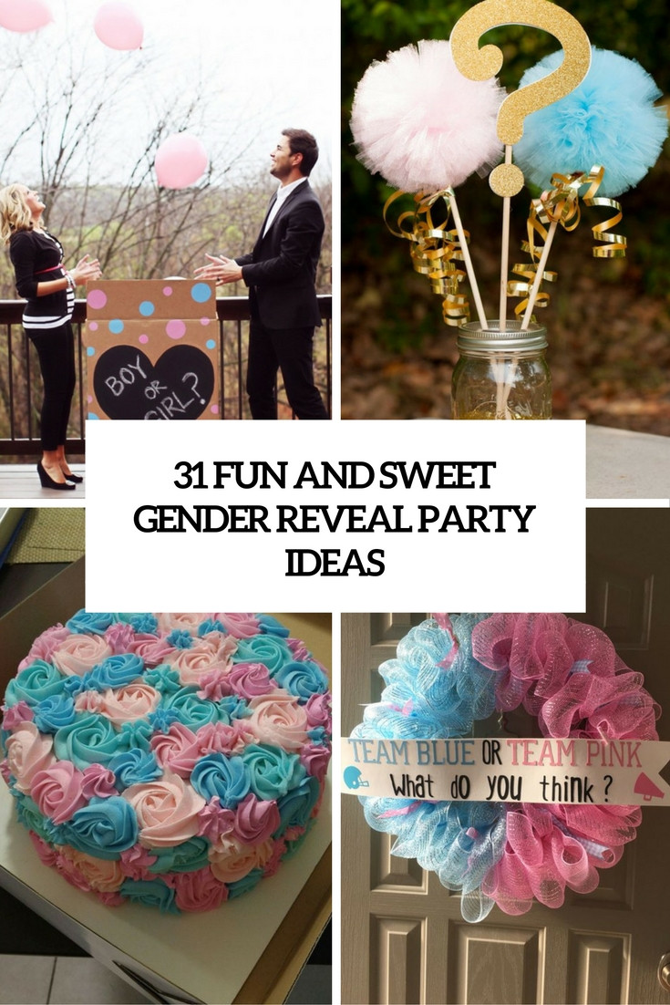 Cute Gender Reveal Party Ideas  31 Fun And Sweet Gender Reveal Party Ideas Shelterness