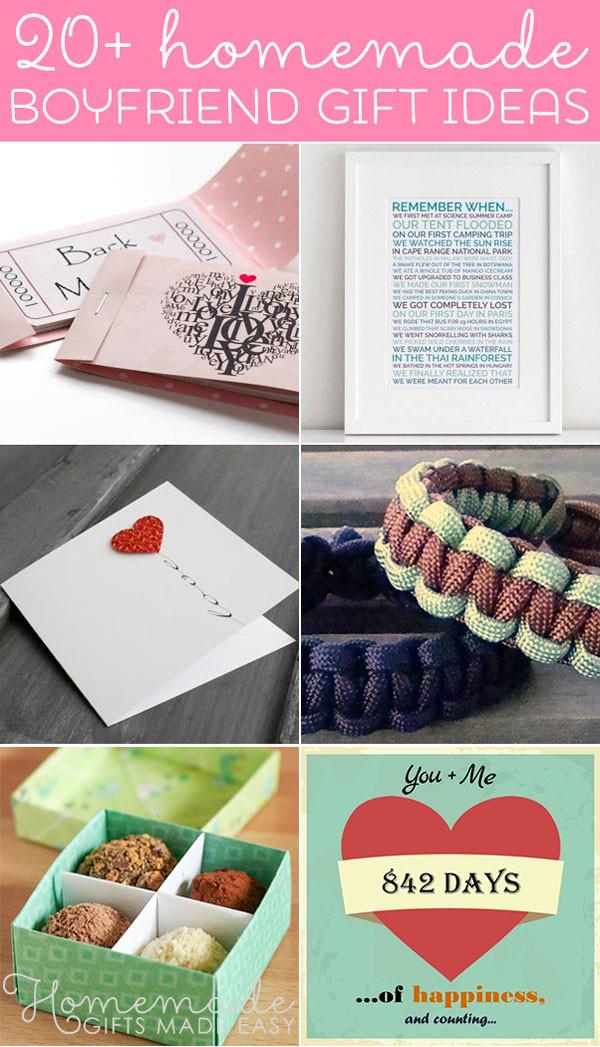 Cute Gift Ideas For Boyfriend  Best Homemade Boyfriend Gift Ideas Romantic Cute and