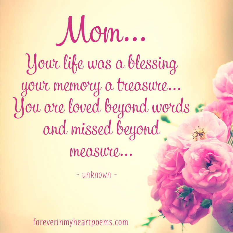 Dead Mother Day Quotes  15 Best Missing Mom Quotes on Mother s Day In loving