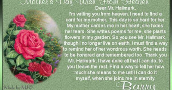 Dead Mother Day Quotes  Mothers Day Poem Deceased Mom Deceased Mother Poems For