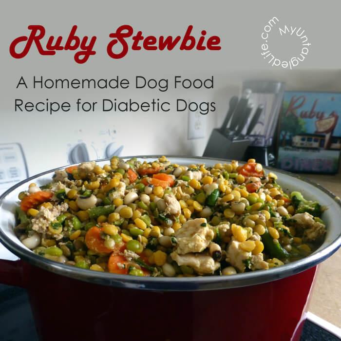 Diabetic Foods Recipes  Homemade Diabetic Dog Food Recipe Ruby Stewbie