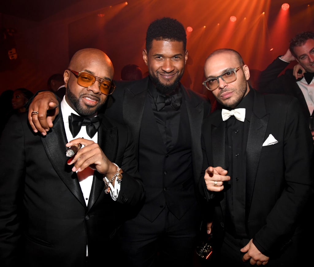 Diddy Birthday Party  Jermaine Dupri Usher and Richie Akiva at Diddy s 50th