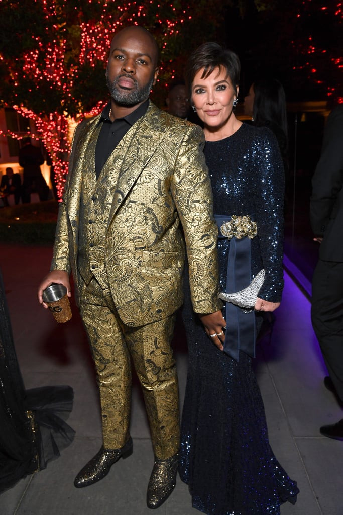 Diddy Birthday Party  Corey Gamble and Kris Jenner at Diddy s 50th Birthday