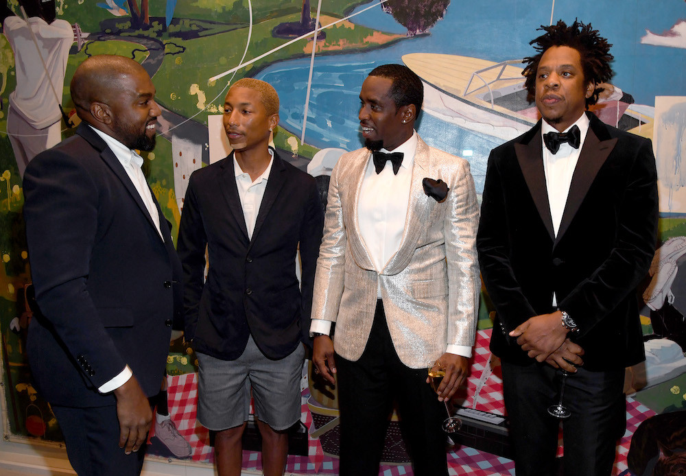 Diddy Birthday Party  JAY Z & Kanye West Reconcile Sorta At Diddy's Kim Porters